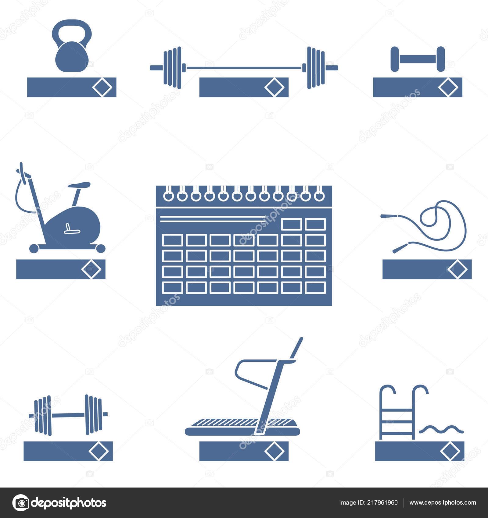 Calendario Fisico.Tiempo Acondicionamiento Fisico 2019 Concepto Fitness Con
