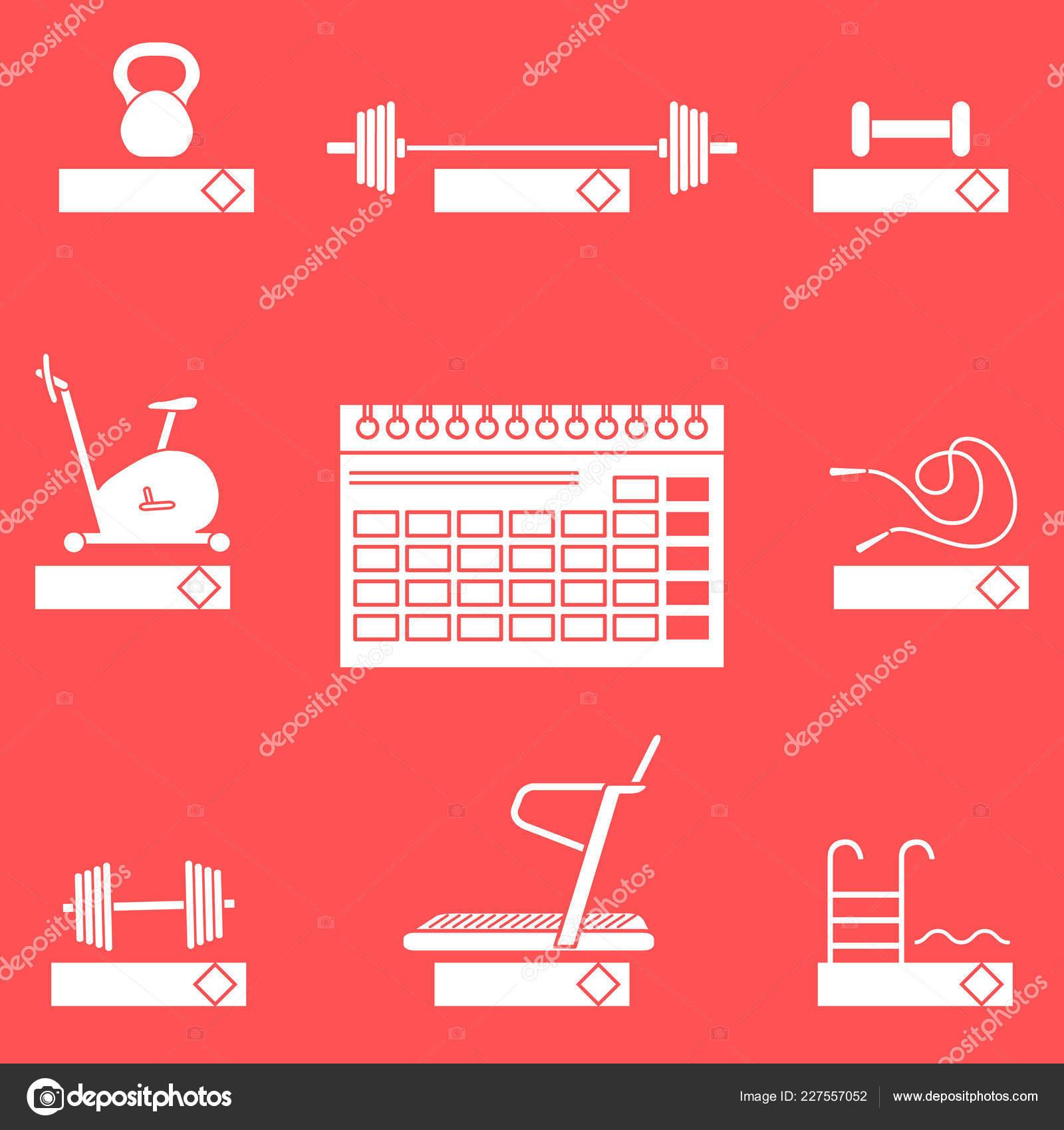 Calendario Fitness 2019.Tiempo Acondicionamiento Fisico 2019 Concepto Fitness Con