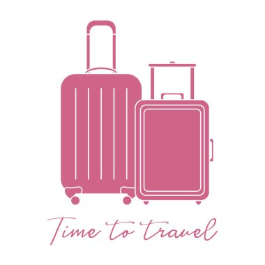 Two suitcases. Summer time, vacation. Leisure.