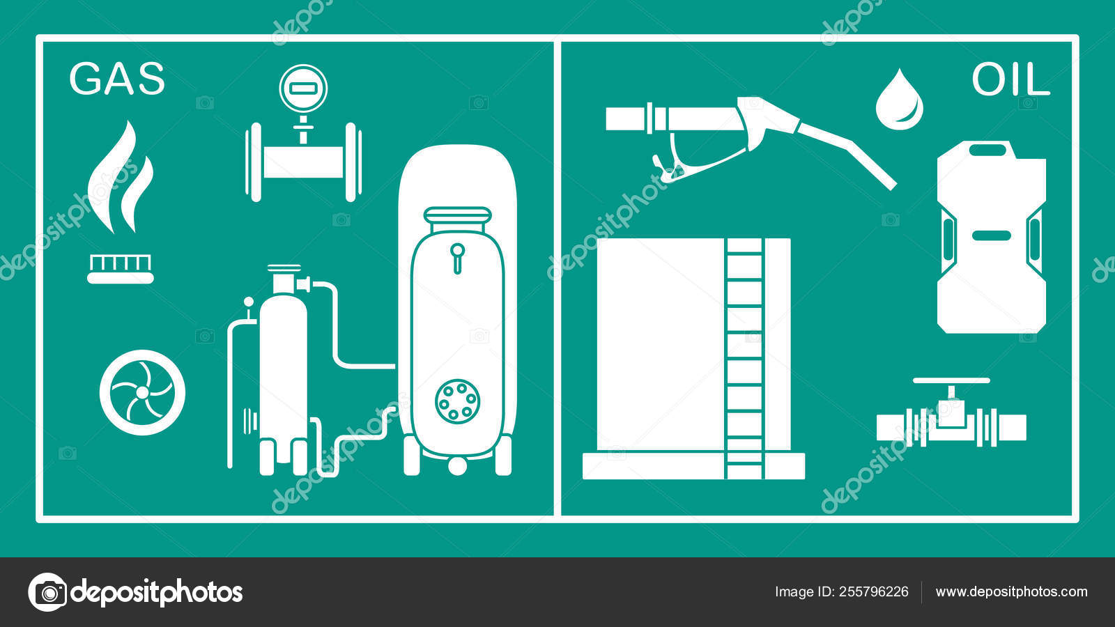 Oil Gas Industry Equipment Extraction Storage Stock Vector C Aquamarine Painter Gmail Com 255796226