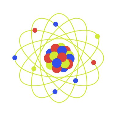 Atom structure. Science day. Education. Nuclear