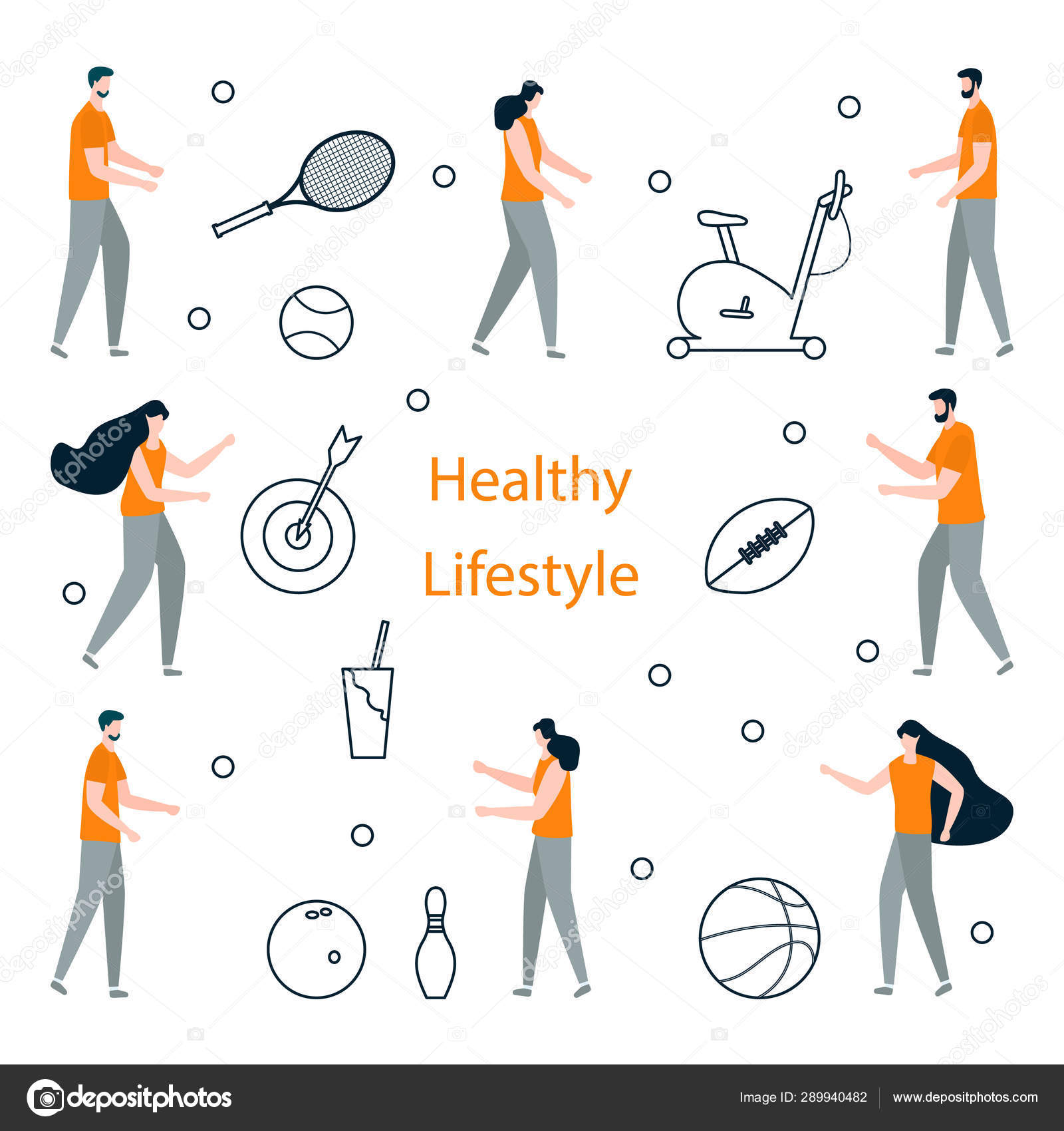 People  Sport  Fitness app  Healthy lifestyle — Stock Vector