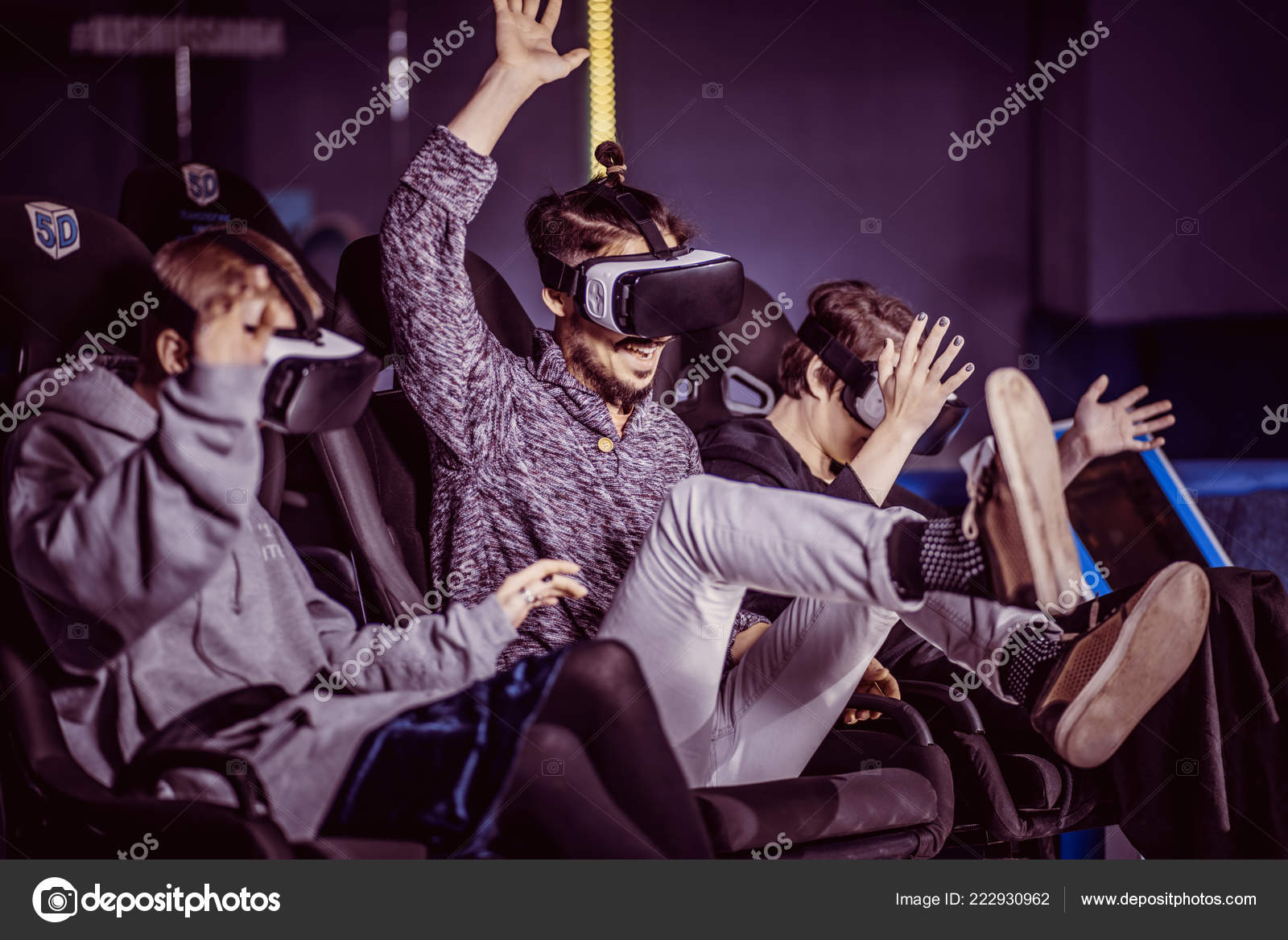 Friends Virtual Glasses Watching Movies Cinema Special Effects