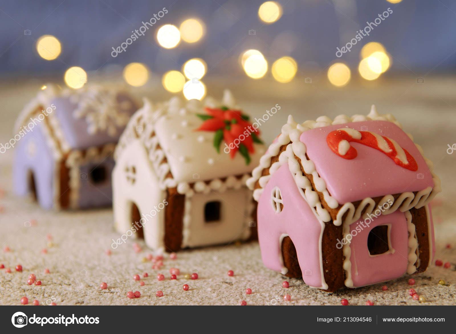 Christmas Miniature Ginger Houses — Stock Photo