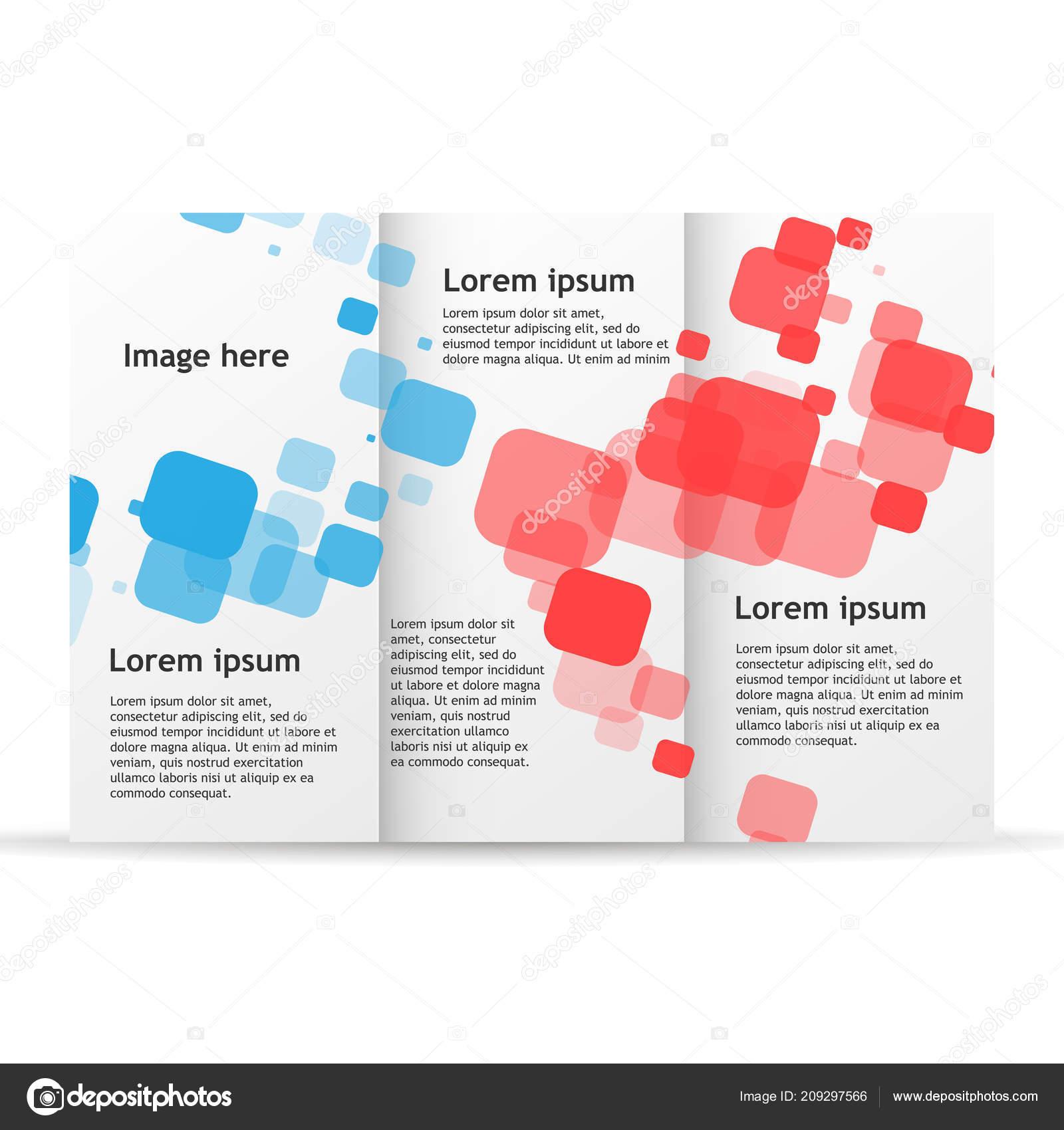 brochure template trifold flyer design mockup leaflet folder blank