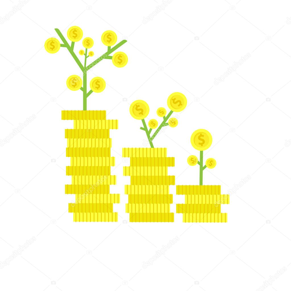 Business banking finance money growth invest vector. Dollar symbol profit sign concept paymeny savings. Wealth analysis design investment market.  Marketing stock background commerce. Increase trade