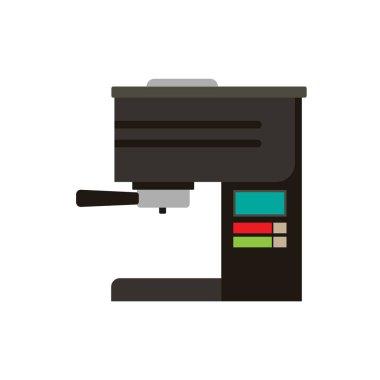 Coffee machine vector icon cafe illustration. Espresso caffeine