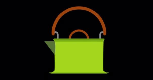 Kettle tea icon vector illustration coffee teapot background drink kitchen steam isolated pot hot
