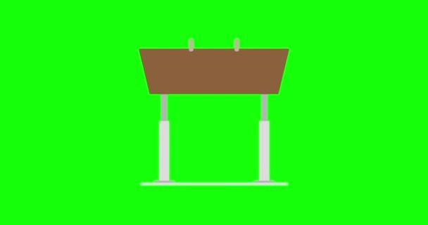 Pommel ló vektor illusztráció ikon sport. Tornaterem lapos kialakítás