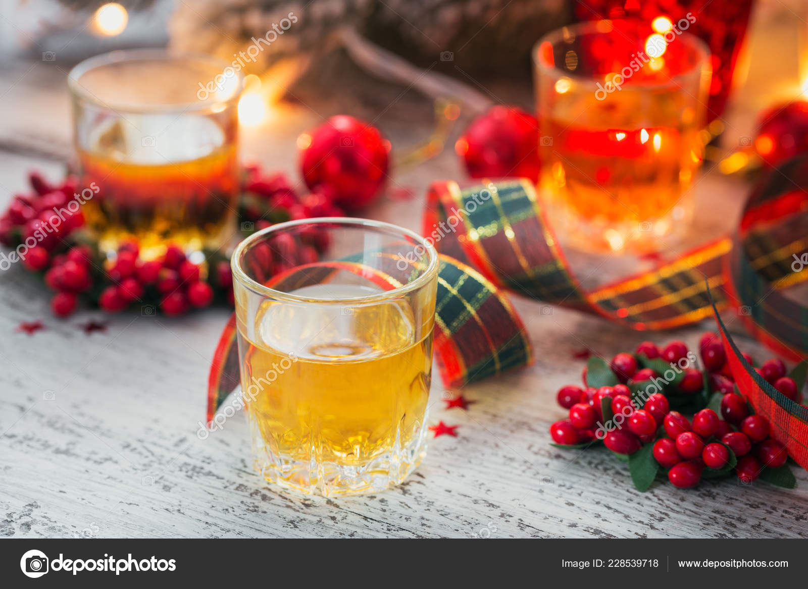 Christmas Liquor.Whiskey Brandy Liquor Shot Christmas Decorations White