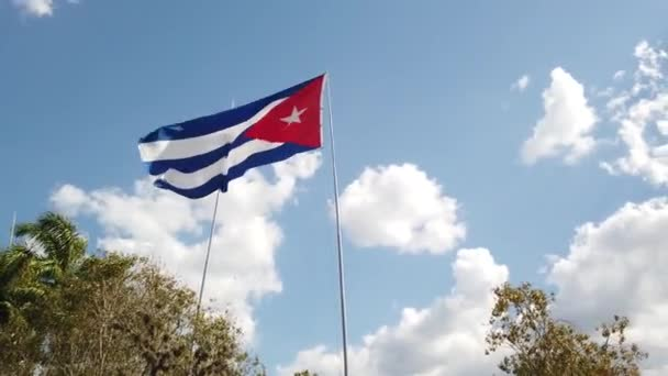 A Cuban Flag Waving In The Wind