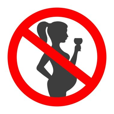 Pregnant no drinking alcohol sign