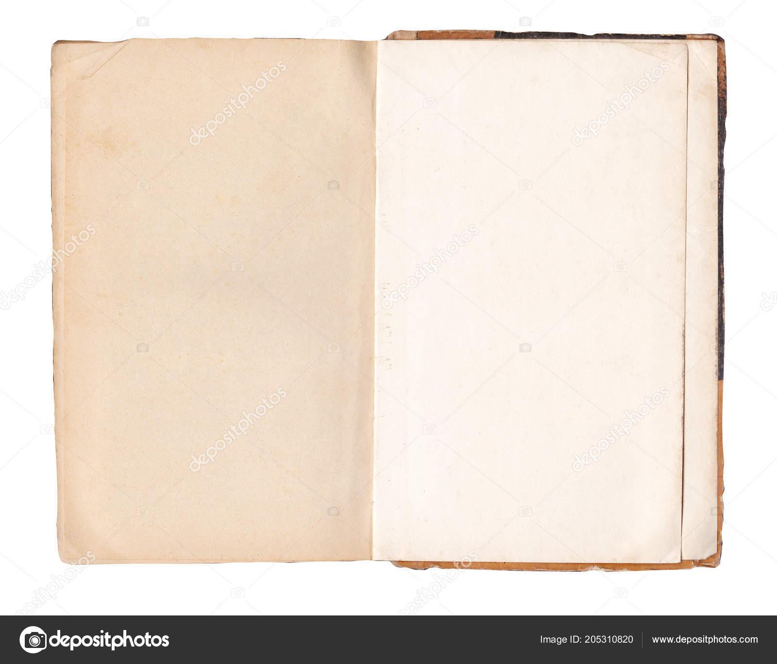 Livre Blanc Ouvert Vieux Isole Pages Livres Anciens Livre