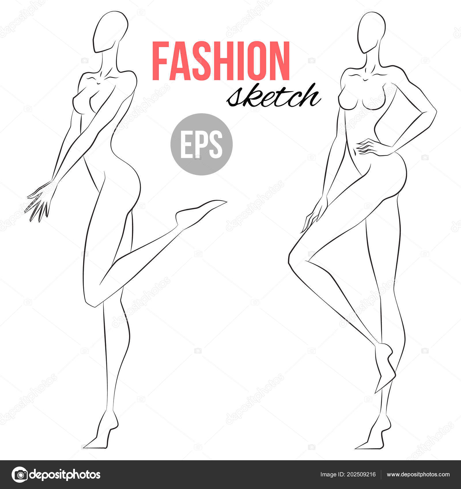 Drawing Body Base Woman Figure Sketch Different Poses