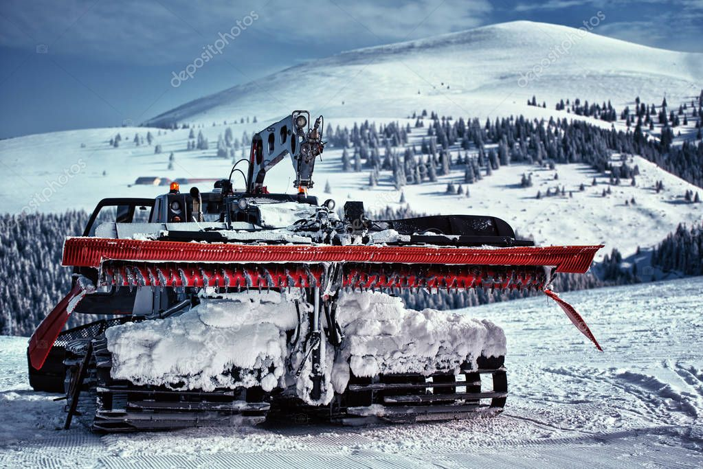 Detail of a snow removal machine