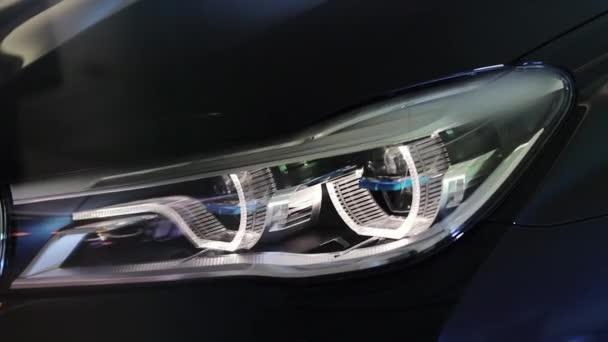 Car with headlight flashing