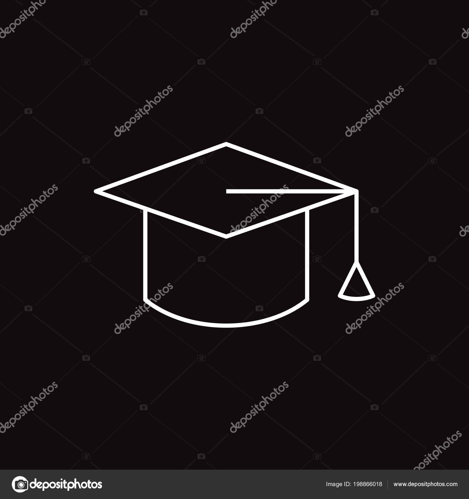 Graduation Cap Web Icon Vector Illustration — Stock Vector © Mr ... c3d0f1f67c6