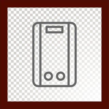 boiler web  icon. Vector illustration