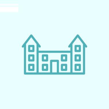 school web  icon. Vector illustration
