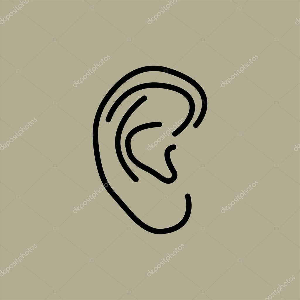 ear icon vector illustration