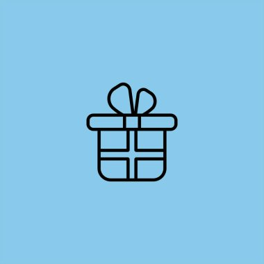 present box vector icon on colorful background
