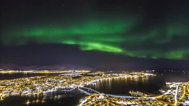 City View in Norway From a Birds Flight. at Night in Many Vulysnyh Lit Lanterns. All Beautifully Lit City