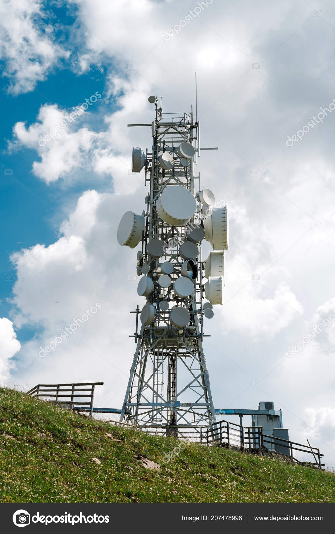 telecommunication towers and antennas Cellular technology when a call is made on a cellular phone, the signal is transmitted by radio to the nearest antenna tower once the antenna site electronically determines that the originating phone is authorized to use its network, the message is then sent by radio -- for cell-to-cell calls -- or telephone line for calls to land lines.