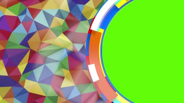 absztrakt háttér a különböző színek a zöld képernyő háromszögek beszúrása