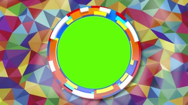 absztrakt háttér a különböző színek a zöld képernyő háromszögek