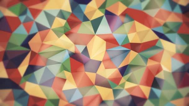 absztrakt háttér fény különböző színű háromszögek kiemeli