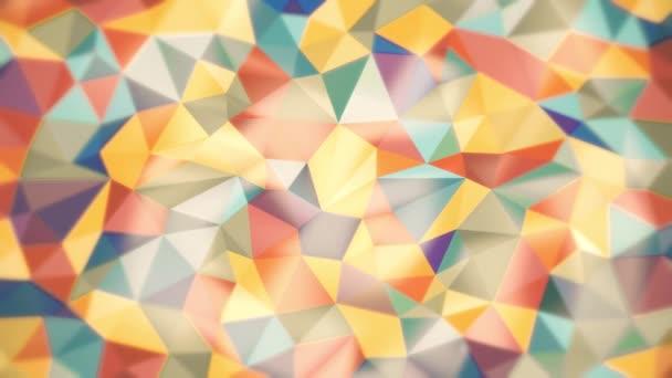 könnyű absztrakt háttér, különböző színű, lágy szegélyekkel háromszögek
