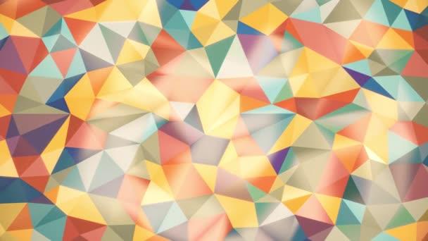 könnyű, absztrakt háttér fény különböző színű háromszögek kiemeli