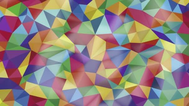 tiszta absztrakt háttér, különböző színű háromszögek