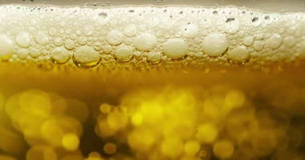 zpomalené video celoobvodové osvěžující pivo ve skle