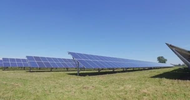 video z eco solárních panelů, střecha buňky sluneční soustavy stanice průmyslu