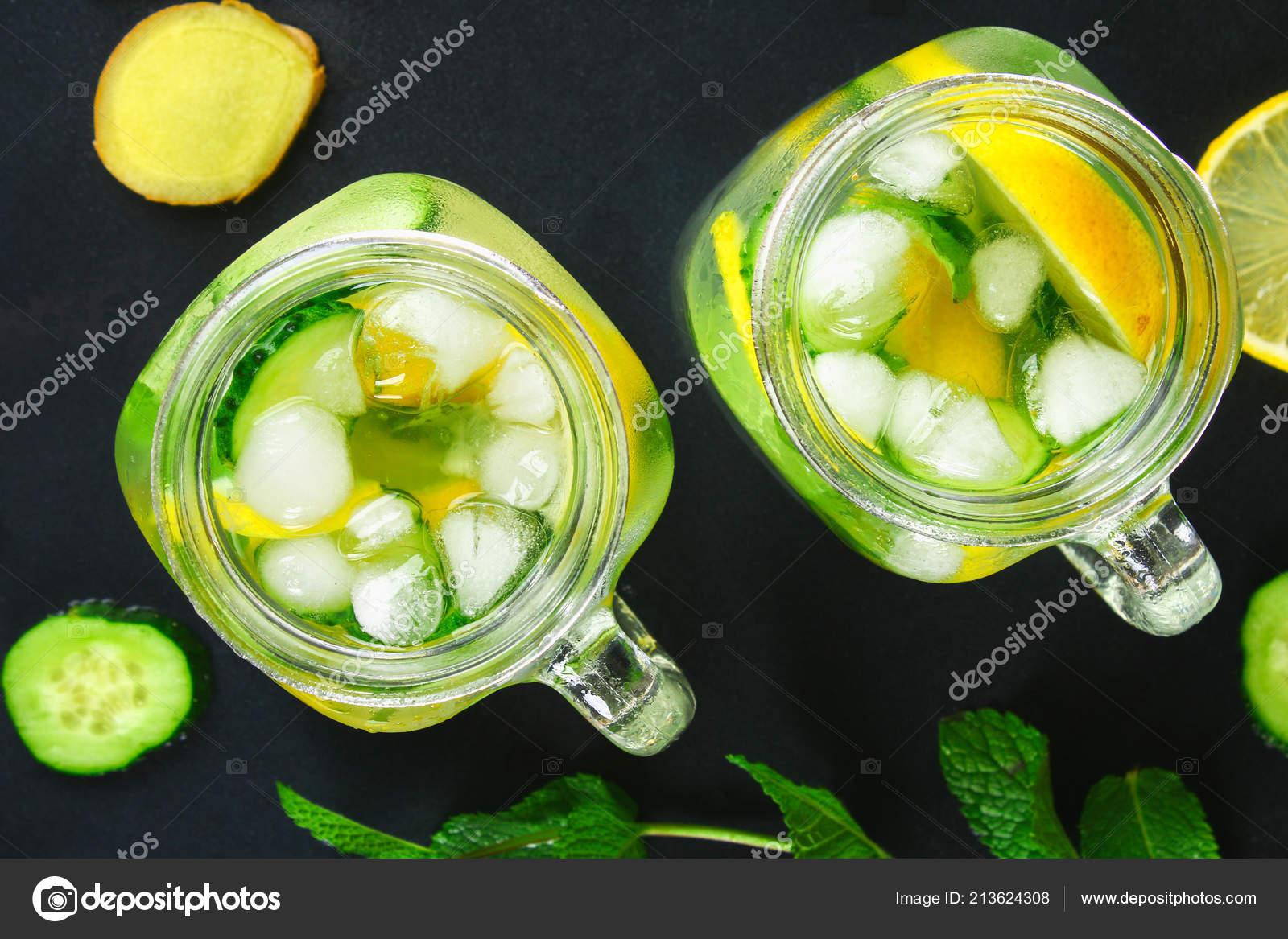 Sassy Water Fresh Cool Water Cucumber Lemon Ginger Mint Detox