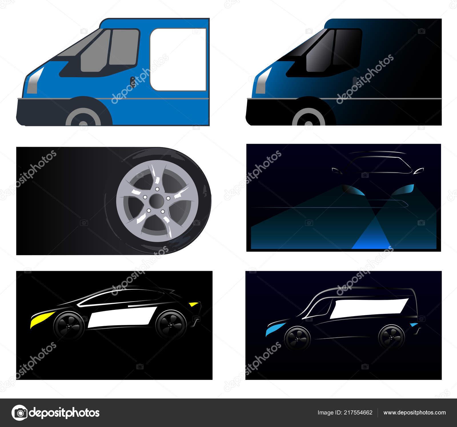 Visitenkarte Auto Auto Stockvektor Maslenok68 217554662