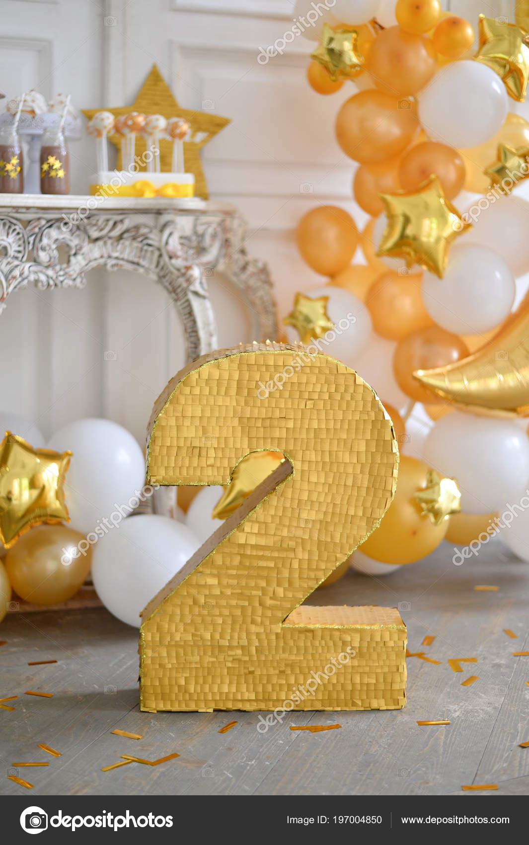 White And Gold Birthday Party Decorations Twins Party