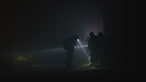 Opkomst op de Bannink in het donker @ De Bannink (militair oefenterein)
