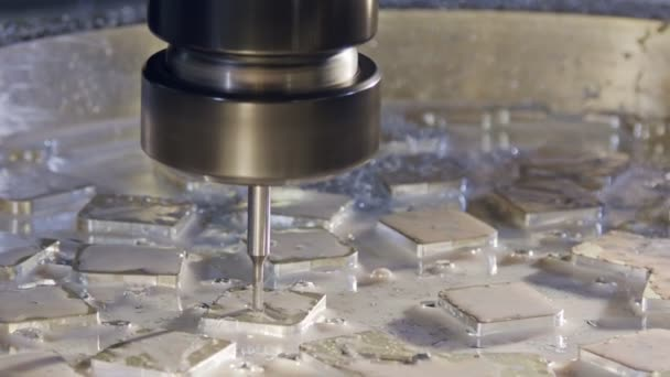 Machining process - high precision CNC mill manufacturing an advanced metal part