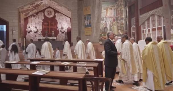 Nazareth, December 24-én 2018-ban. Karácsonyi mise a bazilikában, az Angyali üdvözlet