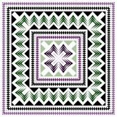Reticolo geometrico senza giunte di verde, lilla su sfondo bianco