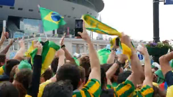 Brazilian fans are happy with the victory over Costa Rica