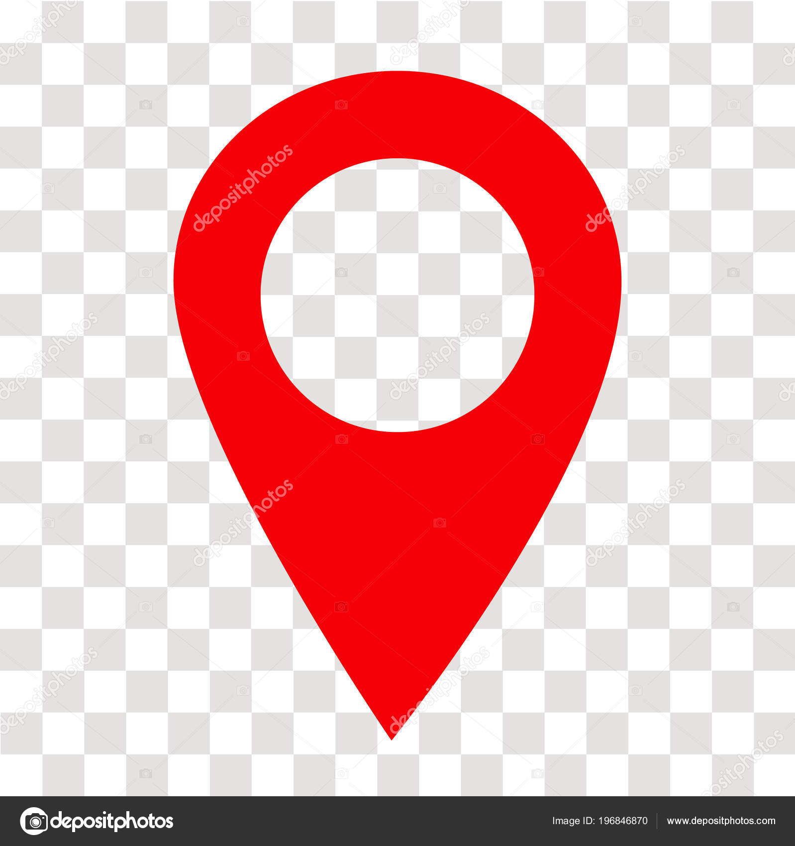 location pin icon transparent location pin sign flat style red