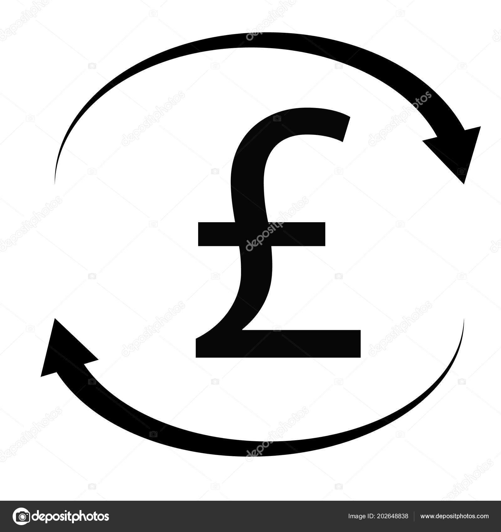 Pound Icon White Background Flat Style Pound Sign British Pounds