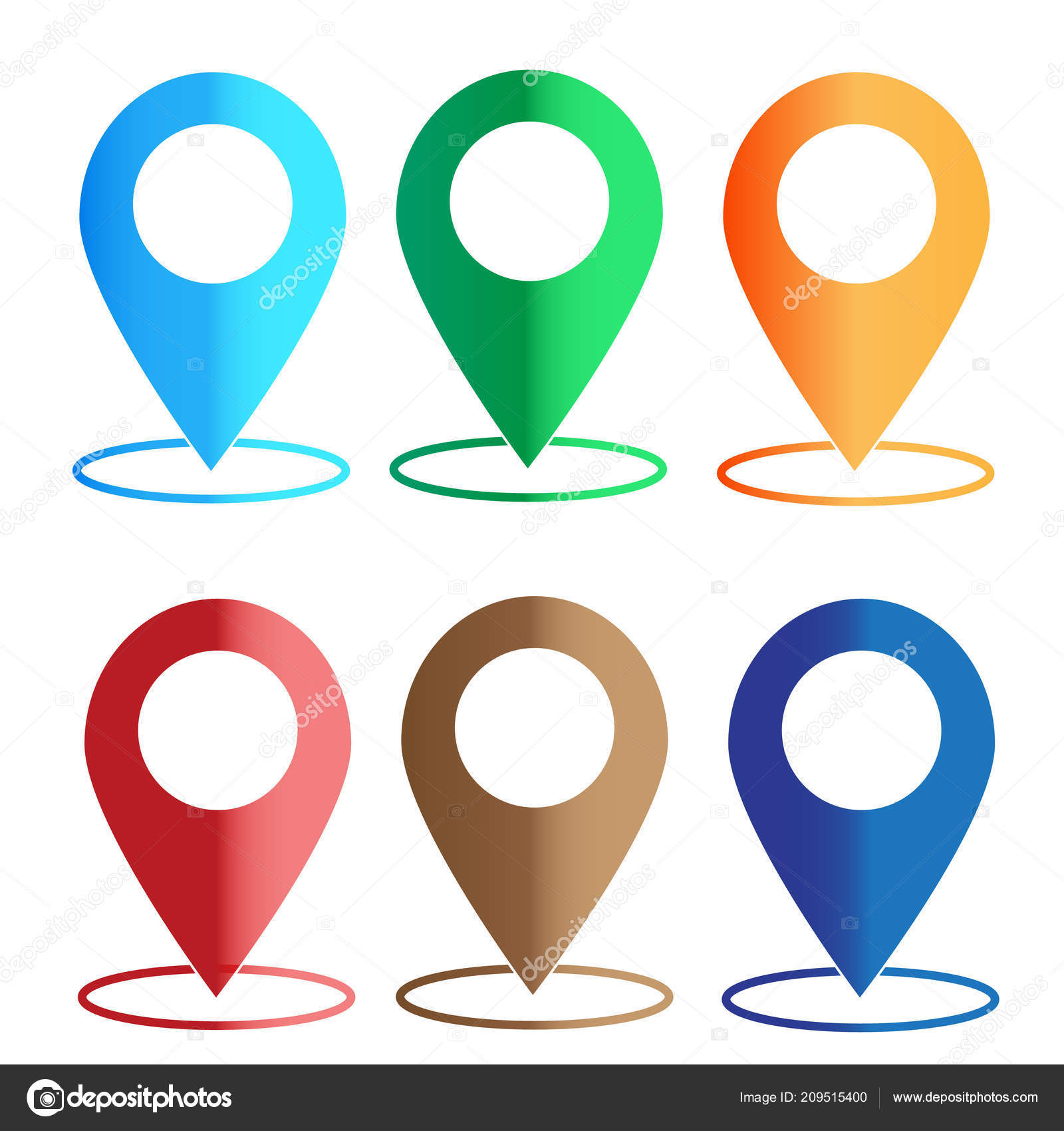 Gps Navigation Application Set Map Colors Icon White