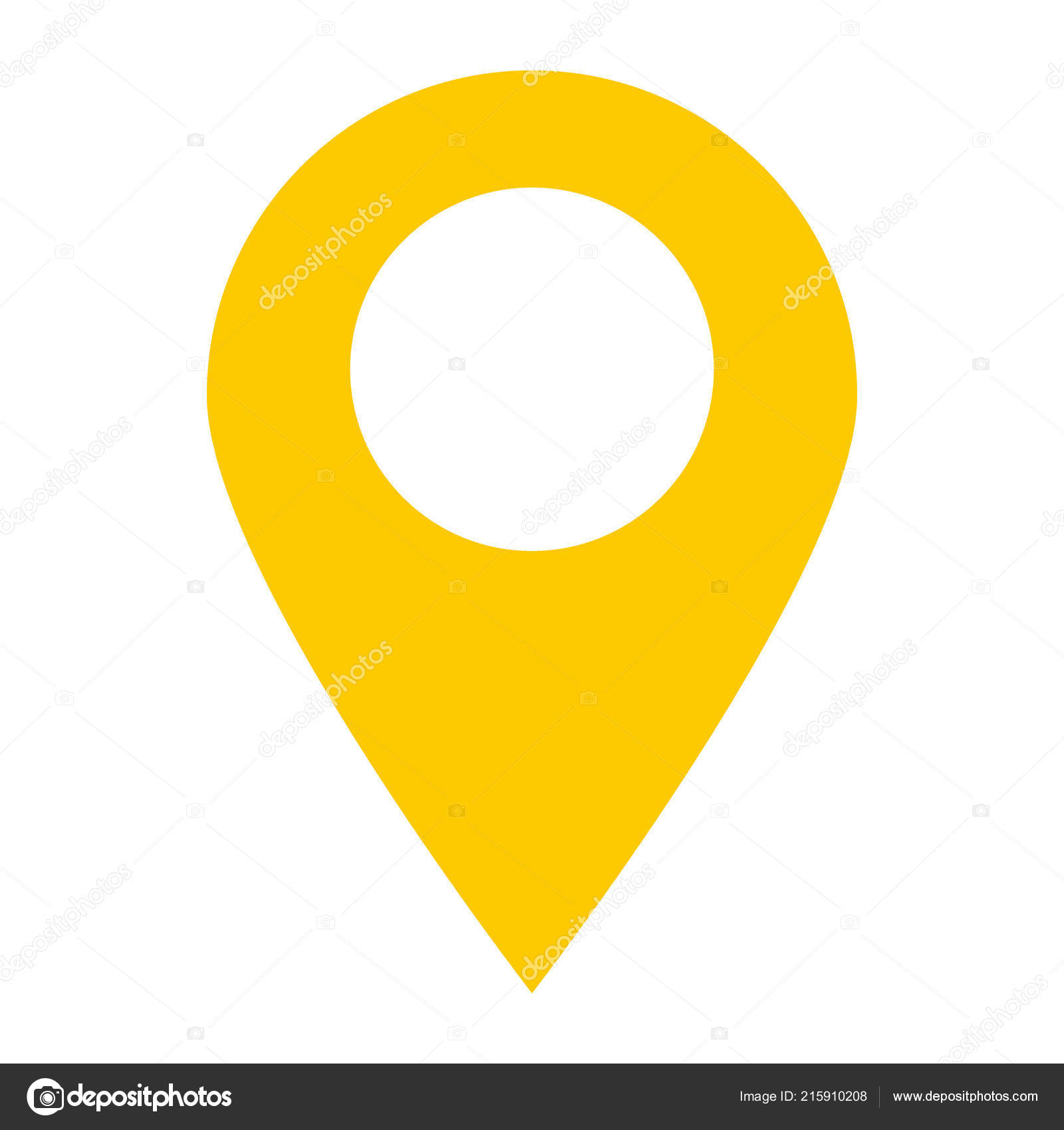 Location Pin Icon White Background Location Pin Point Flat