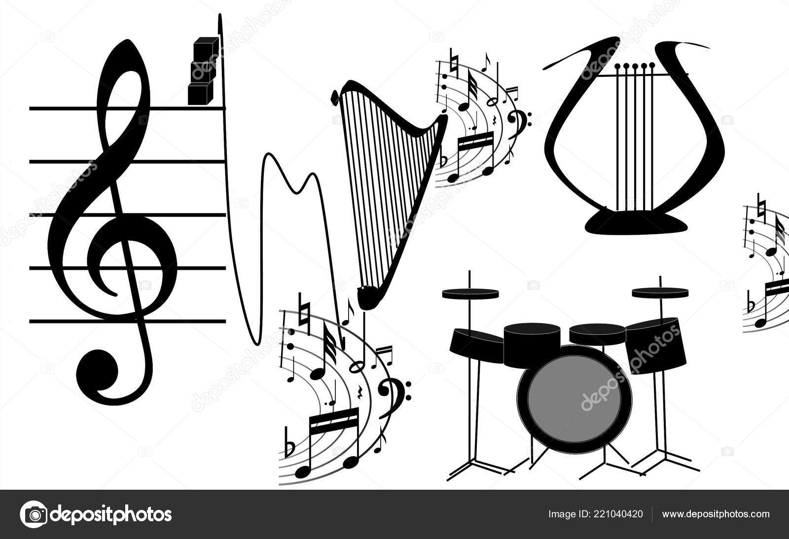 free form in music  Musical Instruments Free Form Music Itself Illustration ...