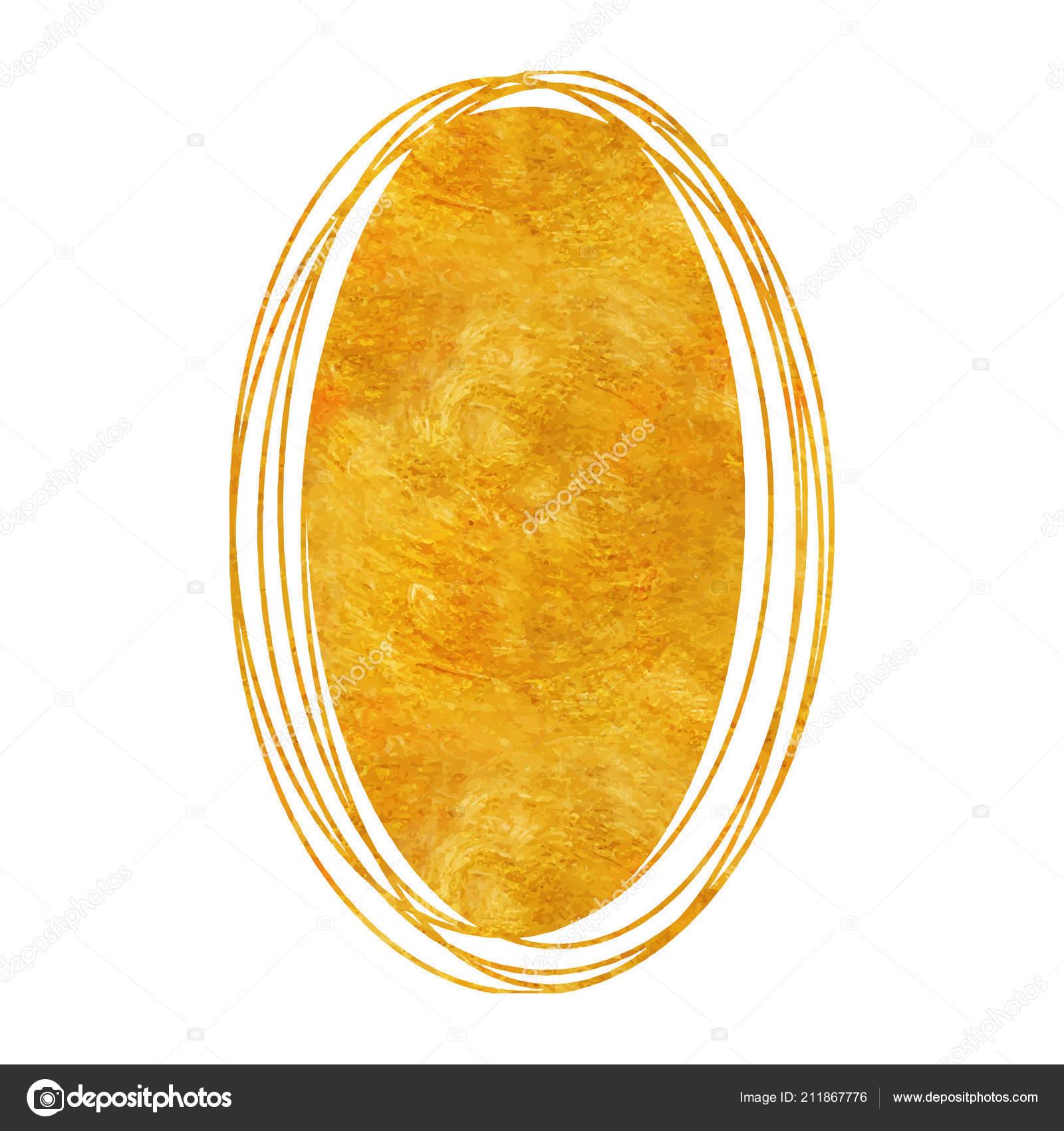 Doodle Kruh Zlato Kresba Koule S Texturou Zlaty Stock Vektor
