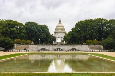 Washington DC, USA - October 12, 2017: View of the historical United States Capitol building in the city of Washington DC, USA